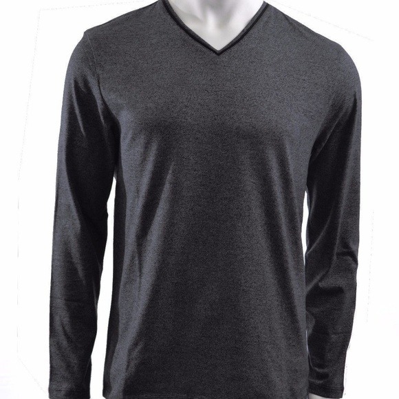1b4662de32e Calvin Klein Men s Long Sleeve V Neck Tee